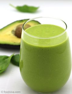 Avocado, an energy rich tropical fruit is highly loaded with fat, vitamin, calcium and dietary fibers. 1/2 small Avocado 1/2 cup Almond Milk or Low Fat Milk or Water 1 cup Spinach 1 Orange or Juice from 1 Orange 1 1/2 tablespoons Honey or Sugar 4 Ice Cubes