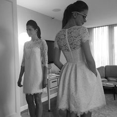 Tea length gowns by Amy Kuschel