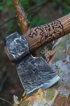 All Things Heathen,Viking and Heathen Related Clothing and accessories Viking Axe, Viking Warrior, 1095 Steel, Axe Handle, Viking Designs, Scandinavian Pattern, Beil, Ragnar Lothbrok, Forging Metal
