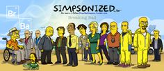 """To what it would look like if the characters were drawn as The Simpsons. 