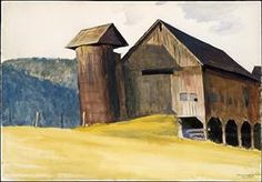 Barn and Silo, Vermont - Edward Hopper
