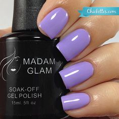 Such a pretty lilac colour!! Madam Glam Light Lilac swatch by Chickettes.com