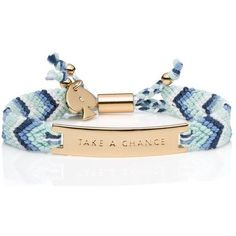 Kate Spade On Purpose Blue Friendship Bracelet ($38) ❤ liked on Polyvore featuring jewelry, bracelets, kate spade, blue bangles, friendship bracelet, hand crafted jewelry and braid jewelry