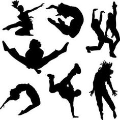 A collection of people dancing in silhouette. Stock illustration by Nicemonkey. You may easily purchase this image as Guest without opening an account. Included into the 'People silhouette, People dancing, Dancing people' image selection. Jazz Dance, Hip Hop Dance, Lets Dance, Dance Class, Ballet Dance, Dance Silhouette, Silhouette Clip Art, Street Dance, Baile Jazz