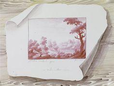 Décor en trompe-l'oeil de gravures clouées sur un mur de bois. manufacture Niderviller, 1773 Sèvres,