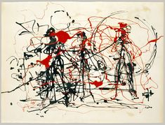 Untitled, ca. 1948–49  Jackson Pollock (American, 1912–1956)  Dripped ink and enamel on paper  22 3/8 x 30 in. (56.8 x 76.2 cm)