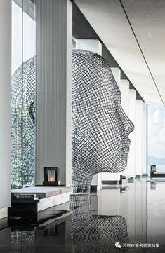 """云想丨视频号,CCD最新酒店:深圳大梅沙京基洲际行政俱乐部 """"隐遁大梅沙山海间,开启谧境奢华之旅"""" Blinds, Skyscraper, Multi Story Building, Curtains, Home Decor, Sculpture, Skyscrapers, Decoration Home, Room Decor"""