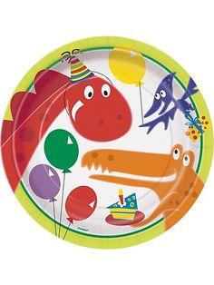 Dinosaur Birthday Dinner Plates