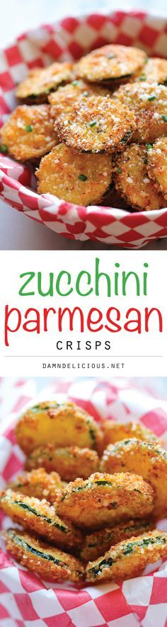 Zucchini Parmesan Crisps - A healthy snack that's incredibly crunchy, crispy and addicting!