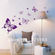 FREE SHIPPING! Butterfly  wall stickers Mural Art Wallpaper DIY Wall Art Home Decoration Fashion For sofa tv window glass-inWall Stickers from Home & Garden on Aliexpress.com