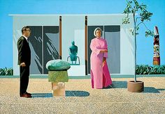 """David Hockney """"American Collectors (Fred and Marcia Weisman)"""""""