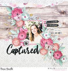 Cocoa Vanilla Studio – Make A Beautiful Life Story by Kylie Kingham Scrapbook Designs, Scrapbook Page Layouts, Scrapbook Pages, Cocoa, Picture Layouts, Craft Stash, Clear Stickers, Floral Theme, Layout Inspiration