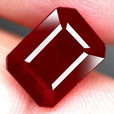 5.30CT.GLORIOUS! OCTAGON FACET TOP BLOOD RED NATURAL RUBY MADAGASCAR #GEMNATURAL