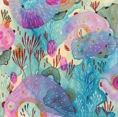 """Original Painting by Yellena James - """"Vigor"""""""