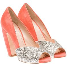 Wear these with a bold gem-colored dress. Royal blue, deep green, deep purple, etc. Miu Miu peep toe from miumiu.com via polyvofre #holygimme
