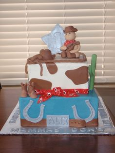 1st birthday cowboy cakes | Cowboy First Birthday — Children's Birthday Cakes