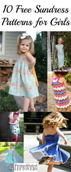 Save money on summer clothing for girls by making these free sundress patterns for girls., including sewing patterns and tutorials for all sewing levels.