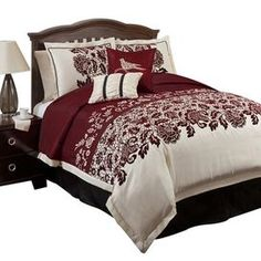 6 Piece Estate Garden Comforter Set. also like the red