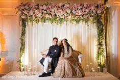 Ravishing indian couple's wedding reception attire www. Wedding Reception Attire, Beach Wedding Guest Attire, Couple Wedding Dress, Wedding Mandap, Rustic Wedding Dresses, Dream Wedding Dresses, Wedding Couples, Elegant Wedding, Wedding Entrance