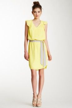 Jessica Simpson Ruffle Sleeve Dress