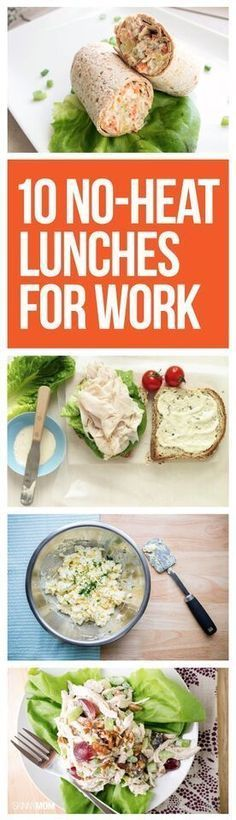 No heat needed for these healthy lunches. No more standing in line for the community microwave! Popculture.com #lunchrecipes #healthylunchrecipes #healthyeating #healthylunch #easylunch #fastlunch #recipe #healthyrecipe #weightwatchers #WWP #officelunch #worklunch #lunchideas #kidslunch #makeaheadlunch #lunchrecipes