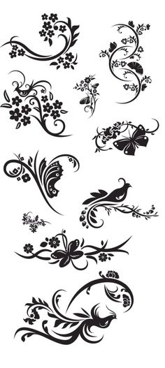 KLDezign SVG swirls, vectoriel, bird, butterfly - for designing Stencils, Silhouette Portrait, Silhouette Cameo Projects, Pyrography, Swirls, Paper Cutting, Zentangle, Line Art, Embroidery Patterns