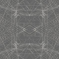 Modern Fabric, Indelible Fabric, Katarina Roccella, Spirodraft in Carbon, Art Gallery Fabrics,Quilting Fabric, Designer Fabric, Quilt Cotton