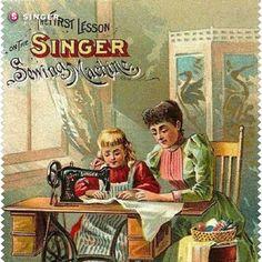 Singer ilustrado #vintage #Singer #costura