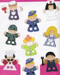 Puppet Crafts, Toy Craft, Felt Crafts, Finger Puppet Patterns, Finger Puppets, Pre K Activities, Preschool Learning Activities, Math For Kids, Crafts For Kids