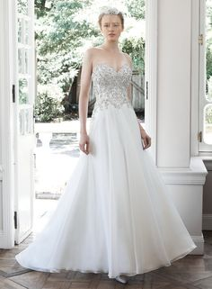 Olympia - by Maggie Sottero.  Beading/crystals.