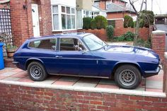 This is a Reliant Scimitar.... a long stretch from the Robin isn't it?