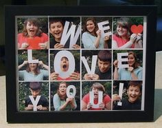 Photo Gifts Using Framed Letter Pictures: Photo Gifts - Framed Snapshots with Cardstock Letters
