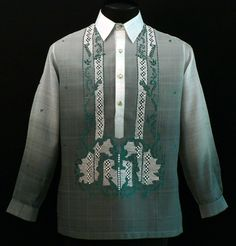A Barong is also known as a filipino wedding shirt. Traditionally worn by men instead of a tux. My I think it would be cool if my groom agreed to wear one :)