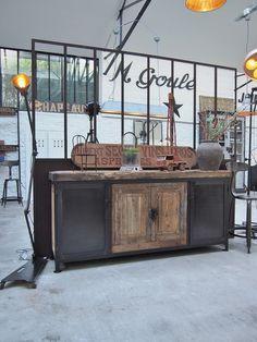 Luminaire Vintage, Industrial Metal, Atelier Loft, Buffet, Furniture Design, Cabinet, Storage, Home Decor, Industrial Coat Rack