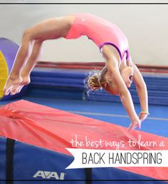 Effective Ways to Learning a Back Handspring | Gym Gab