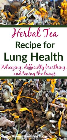 Winter can be rough on your lungs. If you suffer from breathing complaints, this. - Winter can be rough on your lungs. If you suffer from breathing complaints, this tea may help, as i - Natural Asthma Remedies, Natural Cures, Herbal Remedies, Cold Remedies, Natural Antibiotics, Natural Oil, Natural Treatments, Natural Healing, Allergies