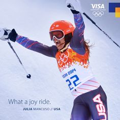 Team Visa Athlete Julia Mancuso won an Olympic Bronze Medal doing what she loves. And she's just getting started.  Congratulations, Julia! You've inspired fans around the world to imagine their #everywhere.