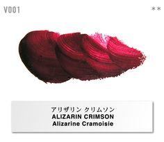 """holbein works ltd.  SUPERIOR ARTISTS' OIL COLOR """" VERNET """" Color Chart"""