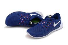 Nike Free 5.0 Homme Dark Bleu Blanc en Ligne