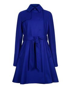 673eef1921ede Wool trench coat - Bright Blue