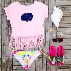 DIY gagamu shirt. Hippiestyle for beachdays.