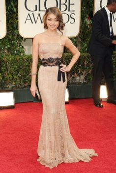 Sarah Hyland, Golden Globes, 2012, vintage Dolce and Gabbana