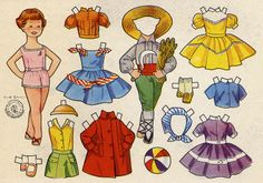 lis* For lots of free Christmas paper dolls International Paper Doll Society #ArielleGabriel artist #ArtrA thanks to Pinterest paper doll & holiday collectors for sharing *