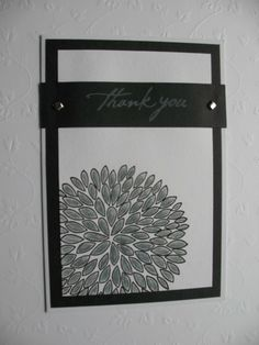 Black and White thank you card - Two Peas in a Bucket