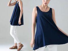 Women Cotton Loose Fit Weste 3 Farben 521 von MissJuan auf DaWanda.com
