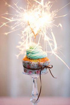 Birthday cupcake + sparkler