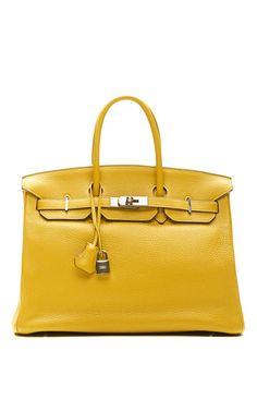 35Cm Curry Clemence Leather Hermes Birkin