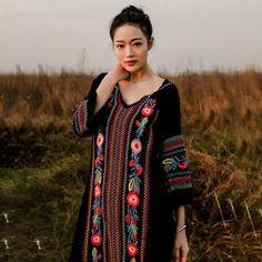 Платье с машинной вышивкой.  #BroideryRu #embroidery #dress #broidery #машинная_вышивка #машиннаявышивка #рукоделие