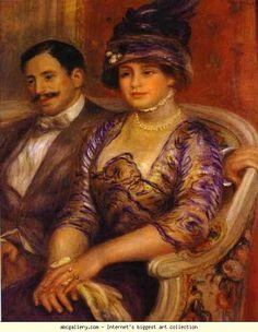 Pierre-Auguste Renoir. Portrait of M. and  Mme. Bernheim de Villers. Olga's Gallery.