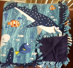 Finding Dory (2yd) Handmade Fleece Blanket by KnotMyStyleBoutique on Etsy